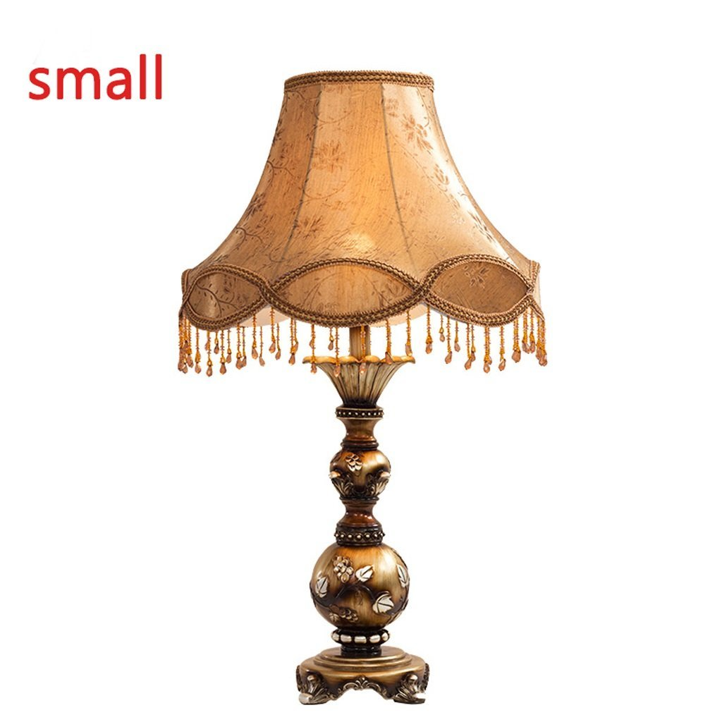 Edge To Table Lamp Continental bedside lamp bedroom lamp dimming LED retro-bedroom luxury lace cloth cozy den living room lights