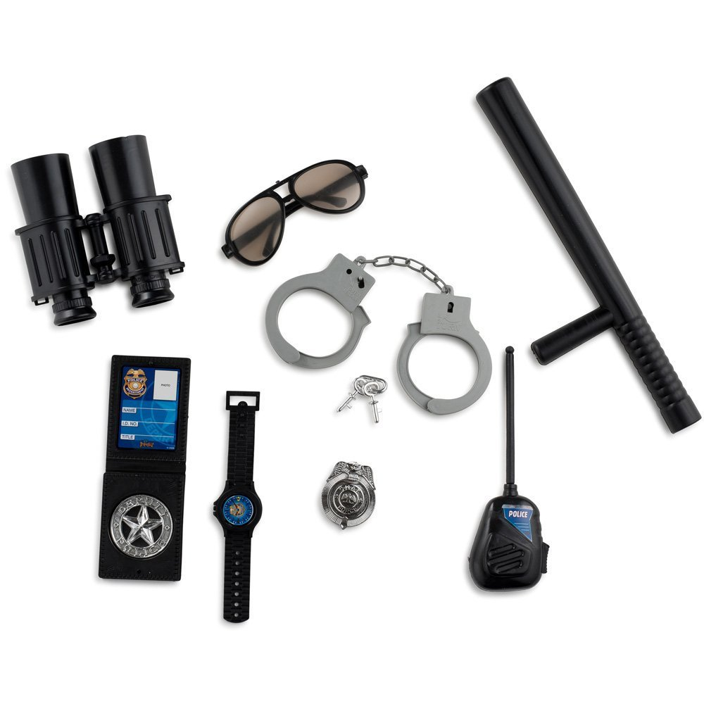 amazon com dressup america halloween police officer role play kit