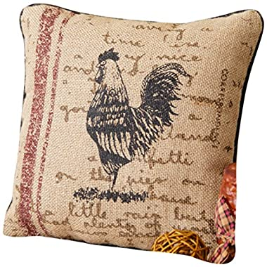 Your Hearts Delight Rooster Farm Life Pillow, 10-Inch