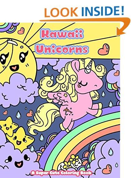 Kawaii Unicorns A Super Cute Coloring Book Manga And Anime Books For Adults Teens Tweens Volume 2