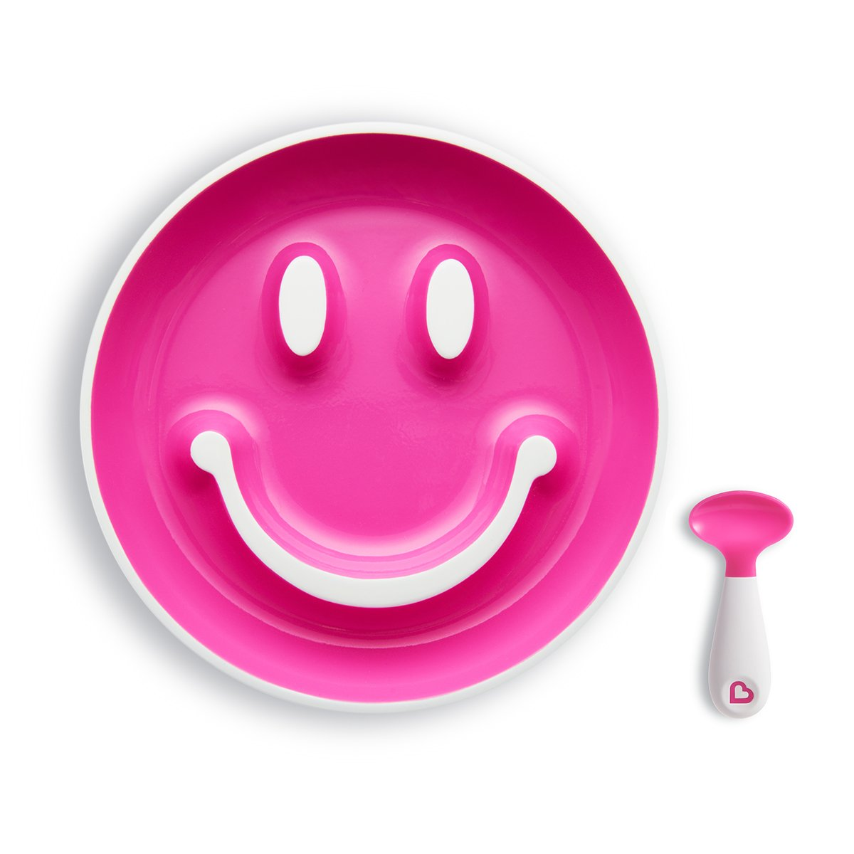 Munchkin Smile 'n Scoop Suction Training Plate and Spoon Set, Yellow 051721