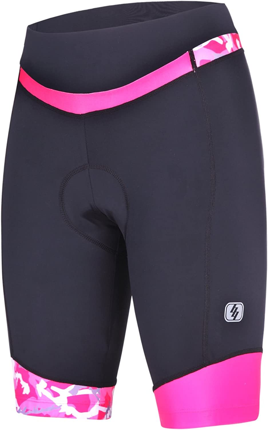 Women's Cycling Shorts With 3D Padded Bike Shorts With Reflective Elements: Sports & Outdoors