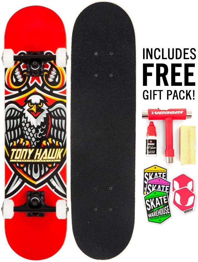 Maintenance Kit Gift Pack! Tony Hawk Complete Skateboards BEGINNER TO ADVANCED Adult//Boys//Girls 7.5//7.75//8