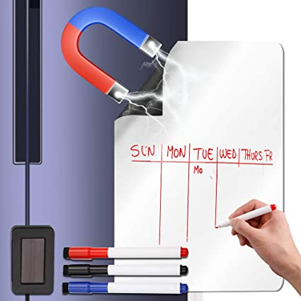 Amazon Com Magnetic Whiteboard For Refrigerator 19 X13