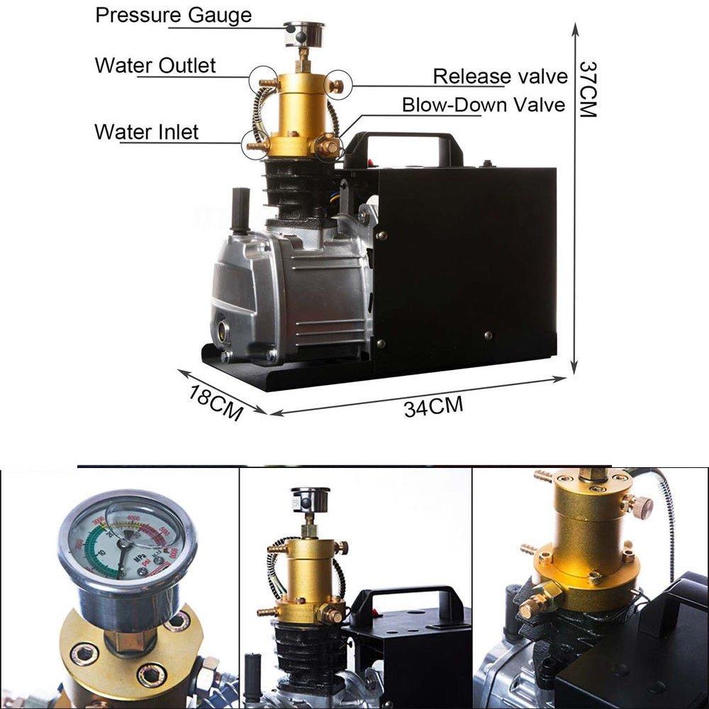 HanSemay Pompe /électrique /à Haute Pression 0.5L de compresseur de Moteur den cuivre de Pompe de compresseur