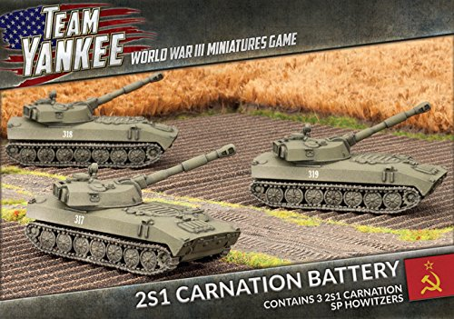 (Flames Of War Team Yankee Soviet 2s1 Carnation Battery (3 Figures, Tsbx07))