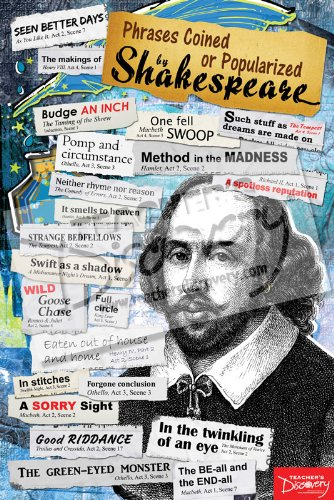 Amazon.com: Phrases Coined or Popularized by Shakespeare Poster ...