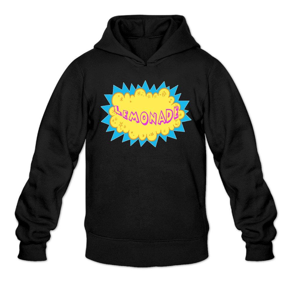 DVPHQ Mens Funny Lemonade Hooded Sweatshirt Black