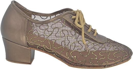 Jig Foo latine salsa Rumba Chacha Chaussures de danse de chaussures dentra/înement pour Femme