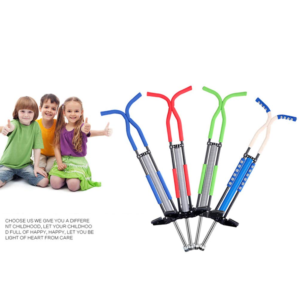 Mengsi Pogo Stick Jumping Stick Jumper for Adults and Teenagers Supports Up to 125lbs Perfect for Balance Training,Blue by Mengsi (Image #3)