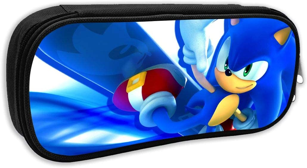 Amazon Com Sonic The Hedgehog Surfing Anime Pen Bag Pencil Case Student Stationery Pouch Bag Office Storage Organizer Coin Pouch Cosmetic Bag 8 25 X 3 53 X 1 96 Inches Black Arts Crafts Sewing