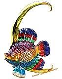 Handmade Bannerfish Art Glass Blown Sea Animal Figurine