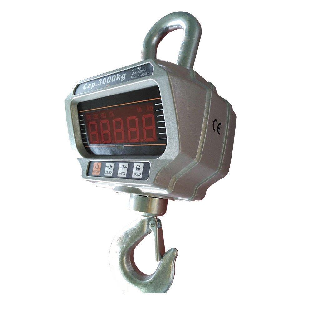 OUKANING OCS-T 3000KG Patalla LED Inteligente Báscula Electrónica Digital Portátil con Gancho Resistente Crane Escala Industrial: Amazon.es: Industria, ...
