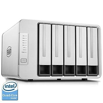 TerraMaster F5-420 - Caja de Servidor NAS 5 Bahías Intel Quad Core 2.0GHz 2GB RAM Almacenamiento en Red(Sin Discos)