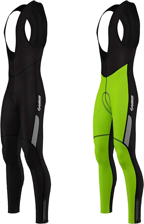 Zimco Men Cycling Bib Tight Windproof Thermal Bicycle Bib Pant Padded: Clothing