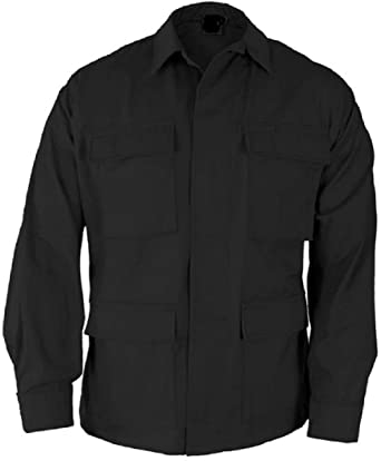 Amazon.com  Black Tactical Military Poly Cotton Long Sleeve Fatigue Bdu  Shirt  Clothing 2332afa3194