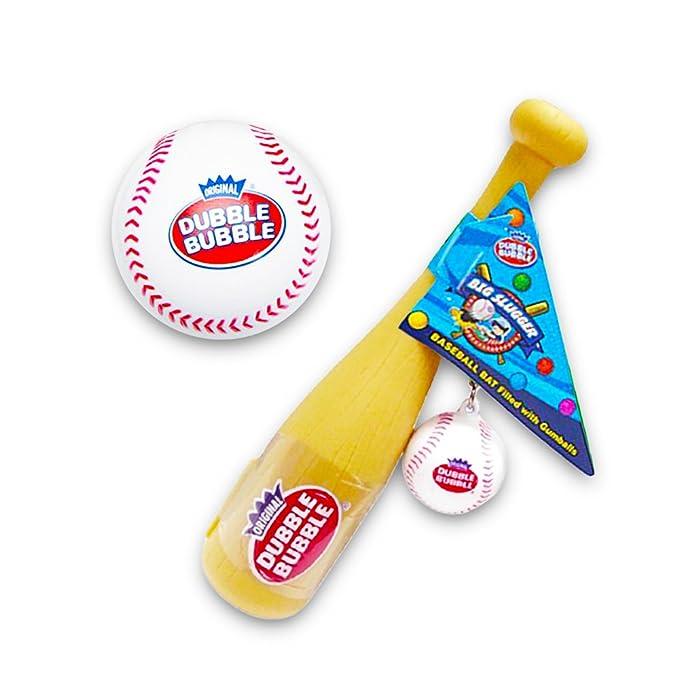Dubble Bubble Big Slugger Baseball Bat and Keychains Kidsmania - Pack of 12
