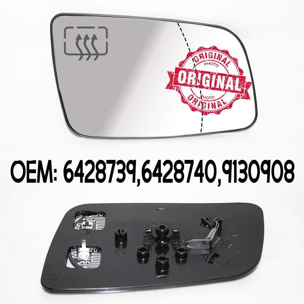 R/étroviseur droit grand angle chauffant pour Astra G 1998-2009 OEM 6428739 6428740 9130908