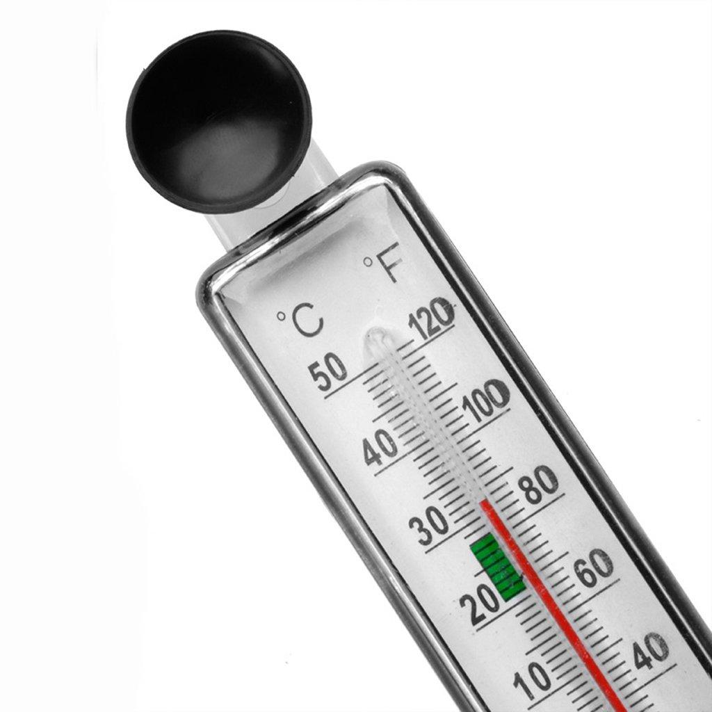 LIUXIA Aquarium Fish Tank Thermometer Glass Meter Water Temperature Gauge Suction Cup