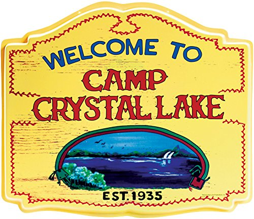 Forum Novelties Camp Crystal Lake Sign, Red