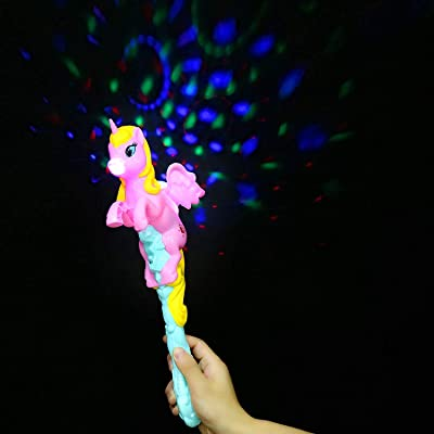 Fun Central Led Light Up Flying Unicorn Wand Toy with Sound - Unicorn Party Supplies: Toys & Games