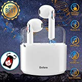 Wireless Earbuds,Bluetooth Earbuds Stereo Wireless Earbuds for Cell Phones Mini Wireless Earphones with Microphone Sports Earpieces Bluetooth 5.0 in Ear Earphones for Android Phones (White)