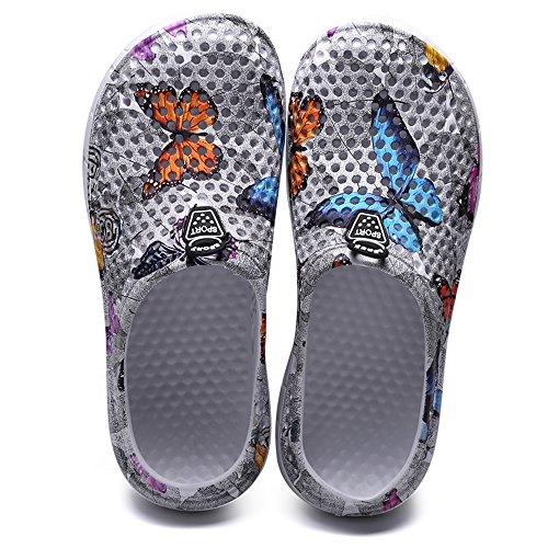 Antidérapantes Randonnée Sandales Jardin Mesh Plage noir1 YUTUTU Douche Chaussures 161 pour Femmes Léger Unisexe Hommes Sabots Pantoufles FWYzqPB