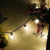 Led Globe Light Strings with G30 Bulbs,13Ft 25 Outdoor Christmas Light Warm White,Commercial Grade Decorative Holiday Garden Patio Wedding Bar Lights--MAXINDA