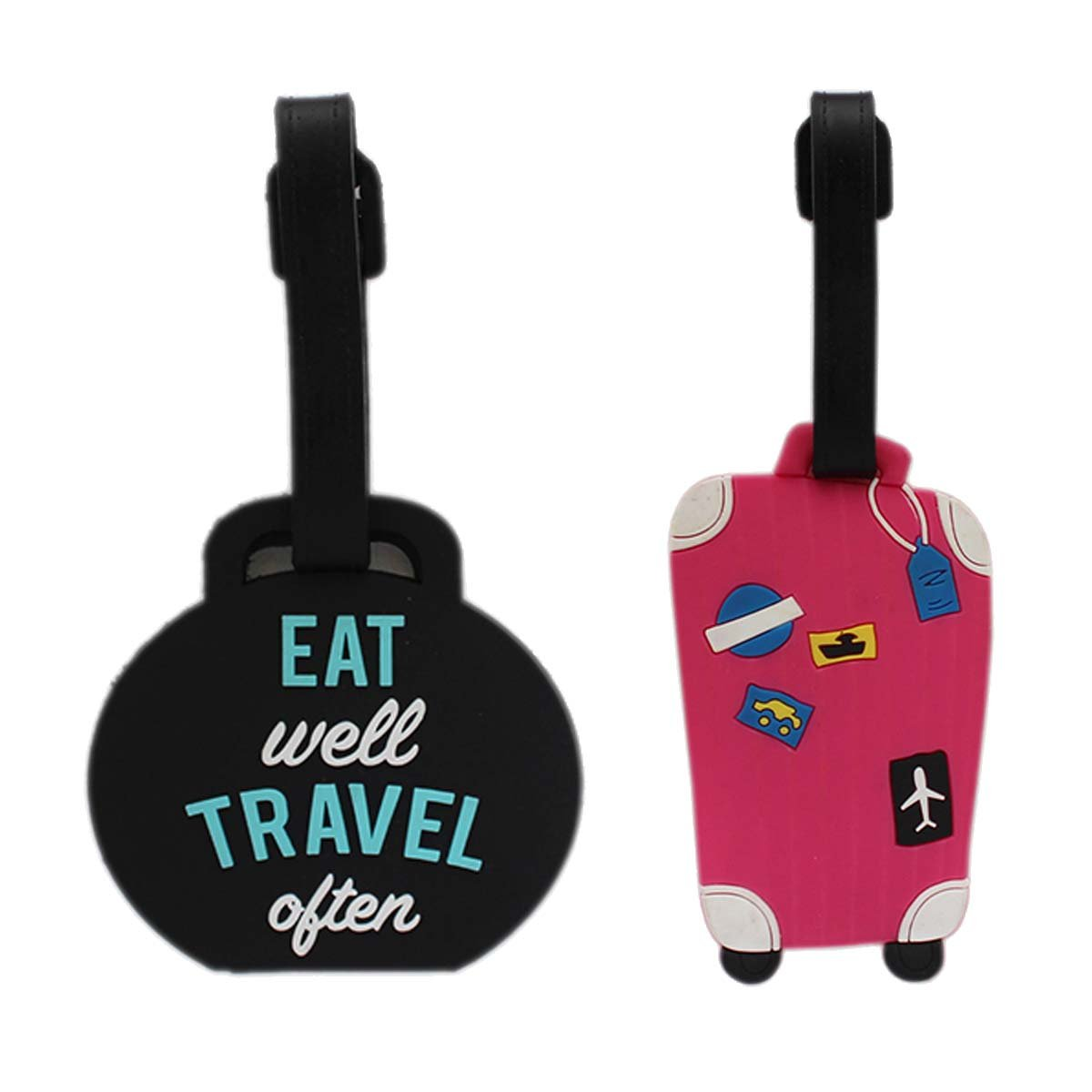 2 Pack Luggage Tags Guitars Travel Tags For Suitcase Bag Accessories