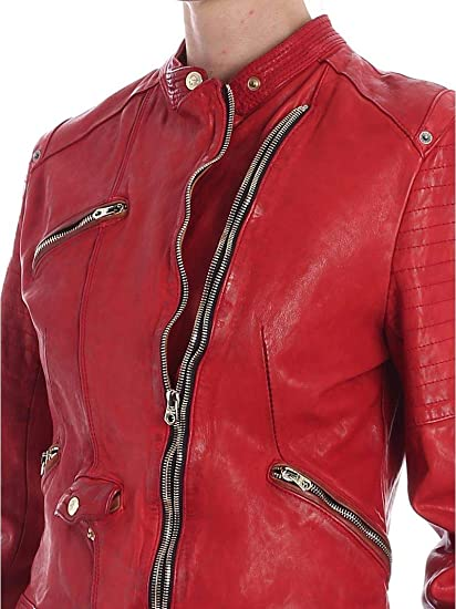 DELAN Giacca Donna Red 44: Amazon.it: Abbigliamento