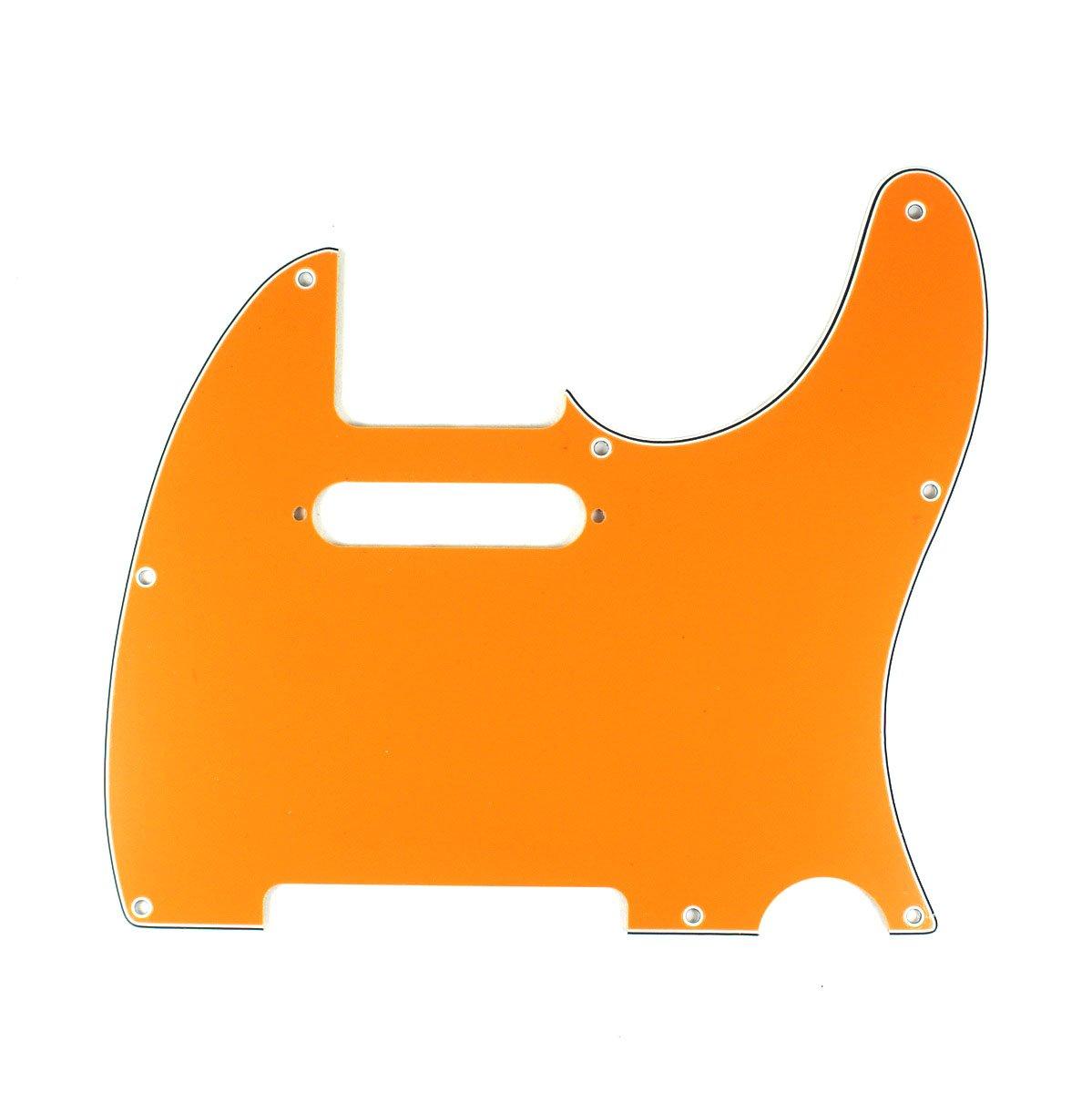 B07 3 Ply Guitar Pickguard Fits Telecaster Tele Standard 8 Hole ORANGE