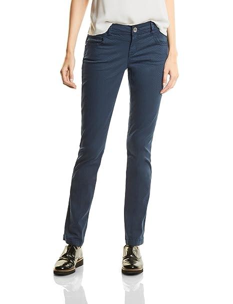 Street One Yella Yoke MW Slimfit Straightleg, Pantalones para Mujer, Rot (Master Wine Dark 11053), 46W x 30L (Talla Del Fabricante: 44)