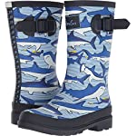 Joules Kids Baby Boys Printed Welly Rain Boot (Toddler/Little Kid/Big Kid) Shark Dive Stripe 9 M US Toddler