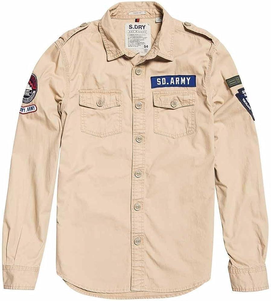 Superdry Camisa M40000EQ NLX Army Corps Lite L/S: Amazon.es: Ropa y accesorios