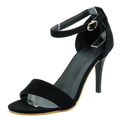 d26b8003a165 Agodor Damen Riemchen High Heels Sandalen mit Nieten und Stiletto Spitze  Pumps Moderne Schuhe - associate-degree.de