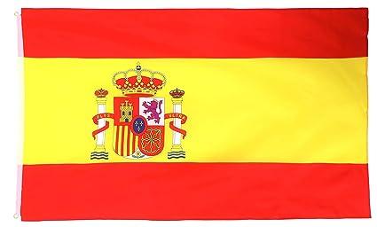 MM Spanien Flagge//Fahne wetterfest 150 x 90 x 1 cm 16302 mehrfarbig