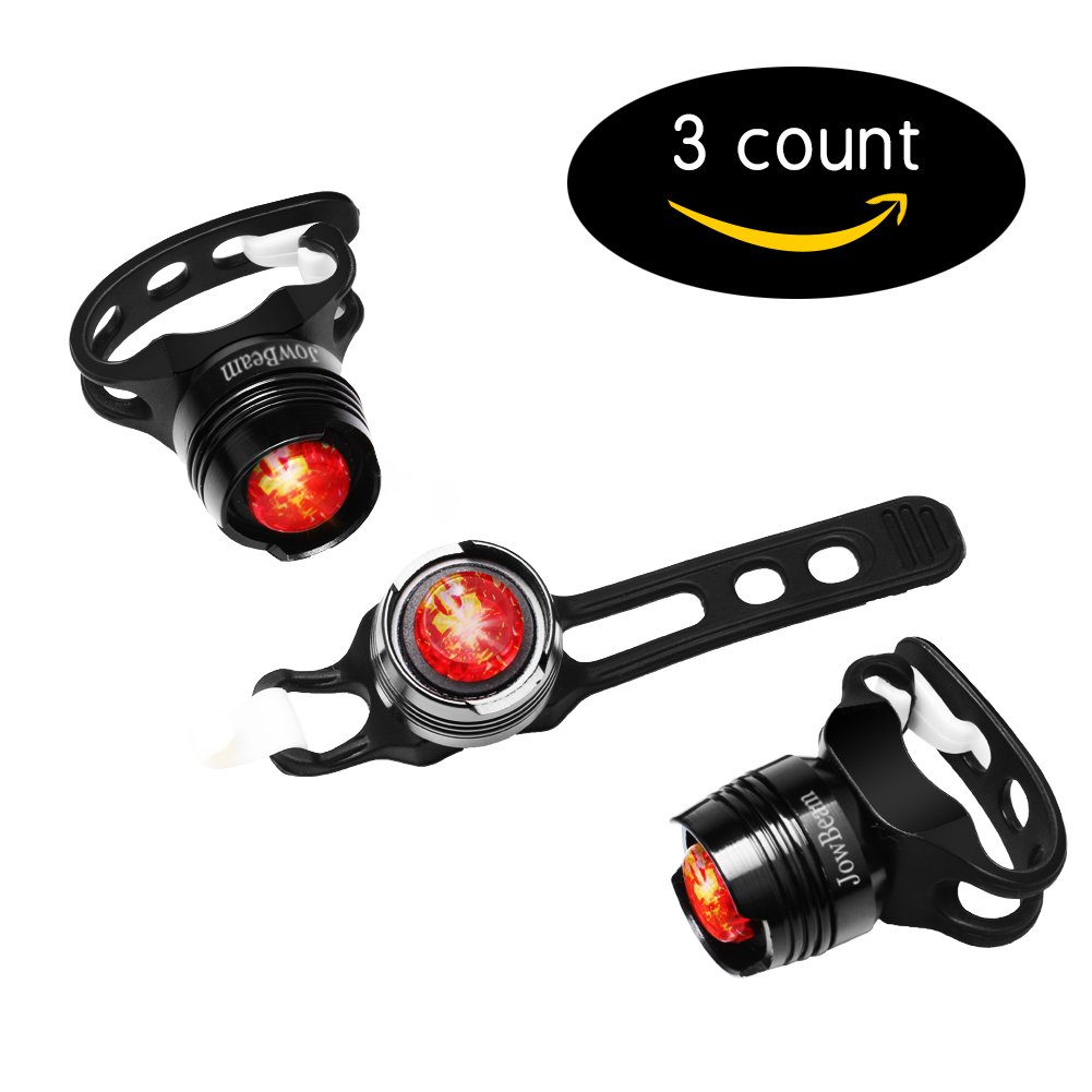 Jowbeam Strap-On LED Bike Tail Light Bike Rear SX-016 3 packs