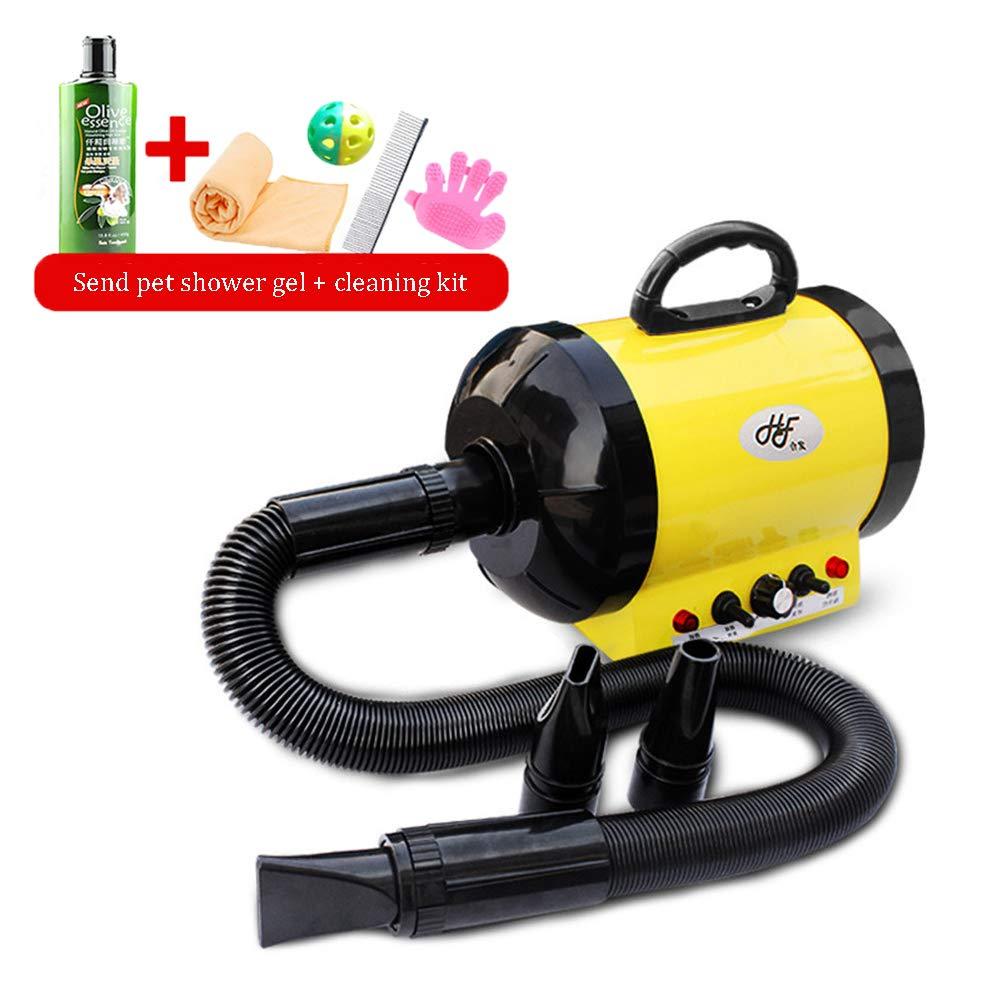 CSJI 1200W PeluqueríA para Mascotas Secador De Pelo para El Perro PeluqueríA Secador De Pelo Secador De Pelo Amarillo - Envíe el Kit de Limpieza: Amazon.es: Deportes y aire libre