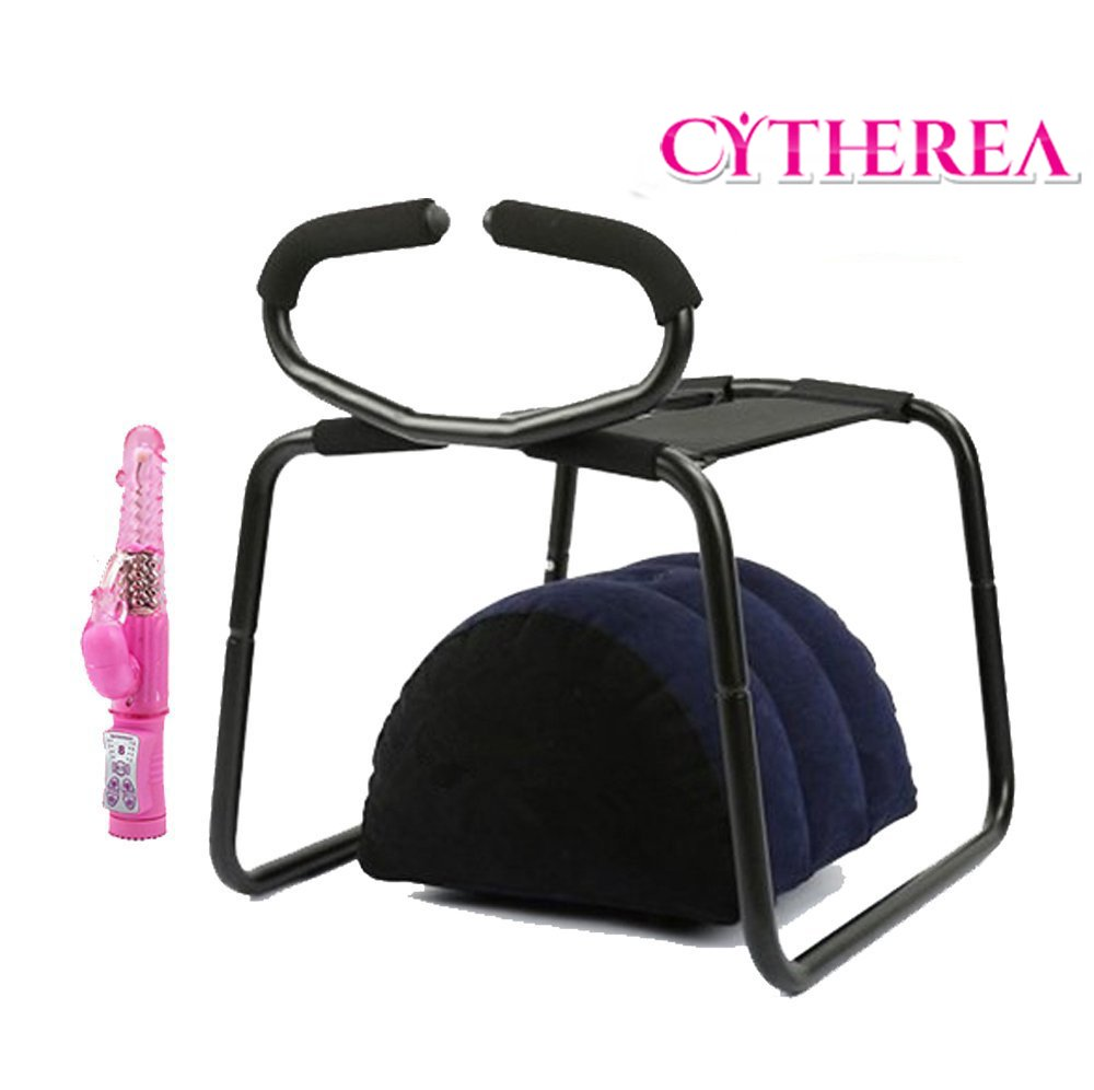 Cytherea Sex Stainless Steel Chair with handle Adult Furniture Elastic Erotic Toy & Air Sex Pillow & Multispeed Jack Rabbit Vibrator Set (T-PF3216)