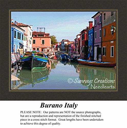 Burano Italy  Alluring Landscapes Counted Cross Stitch Pattern  Pattern Only  You Provide The Floss And Fabric