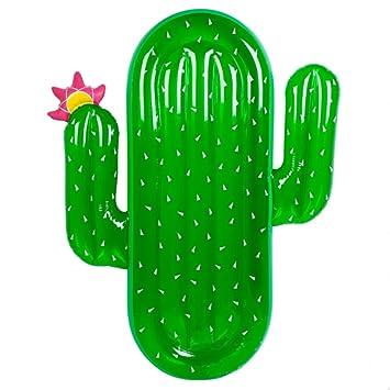 PovKeever Cactus Flotación Row, 180 cm gigante piscina flotador verano anillo de natación agua piscina