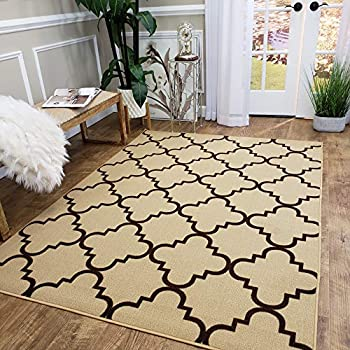 Amazon Com Area Rug 5x7 Solid Ivory Kitchen Rugs And Mats
