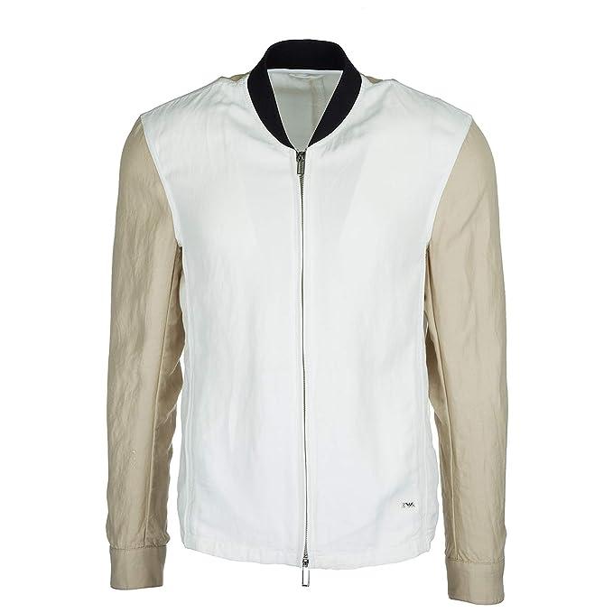 Emporio Armani Chaqueta Hombre Bianco Ottico 50 EU: Amazon.es: Ropa y accesorios