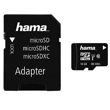 Hama microSDHC 16GB - Tarjeta de Memoria (Negro, Micro ...