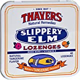 2Pack! Thayers Slippery Elm Lozenges Tangerine - 42 Lozenges - Case of 10