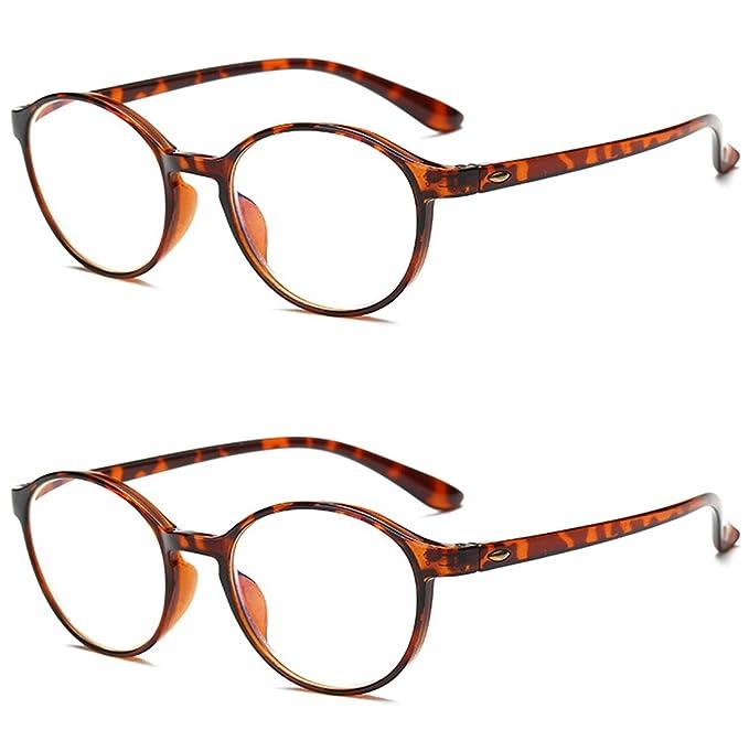 b1eb9b12da VEVESMUNDO Gafas Lectura Anti Luz Azul Mujer Hombre Grandes Flexible  Redondas Presbicia Anteojos Para Leer 1.0 1.25 1.5 1.75 2.0 2.25 2.5 2.75  3.0 3.5 4.0: ...