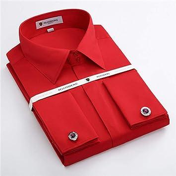 Camisa Francia Gemelos Camisas De Vestir para Hombres Botón ...