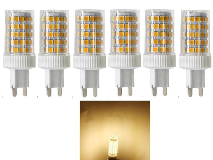 Bombillas LED 10W G9,equivalente a Lámparas Halógenas 80W,86x SMD2835,3000K Blanco