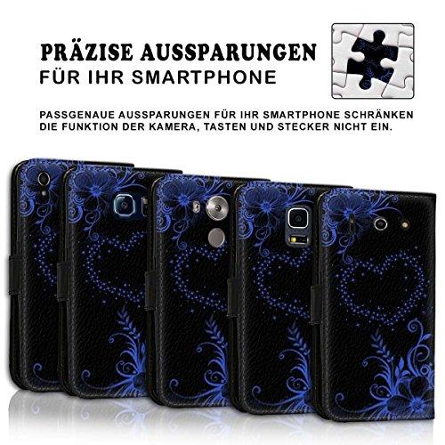 Wallet Book Style Flip Handy Tasche Case Schutz Hülle Schale Motiv Etui für Apple iPhone 5 / 5S - Design Flip MV202