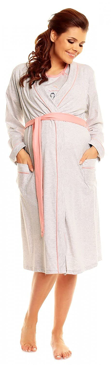 Zeta Ville Women\'s Maternity Breastfeeding Nightie Robe Dressing ...